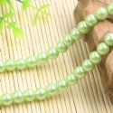 Beads, Glass Imitation pearls, Glass, Olive-Green , Round shape, Diameter 8mm, 18 Beads, [FZZ0040]